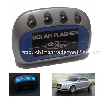 Solar Car Loading Warning Flashing Light